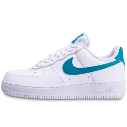 air force 1'07 blanche bleue or femme clearance