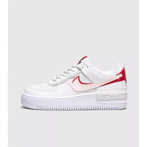air force one shadow rouge et blanche femme clearance