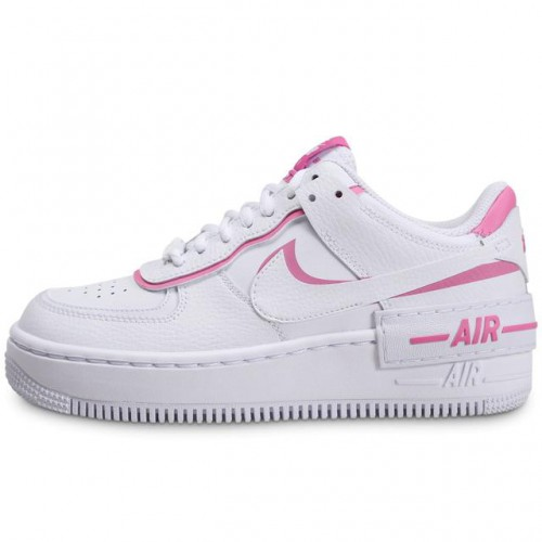 nike air force 1 shadow blanche et rose femme collection
