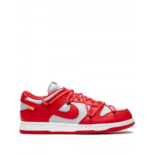 nike sb dunk low off white red de course