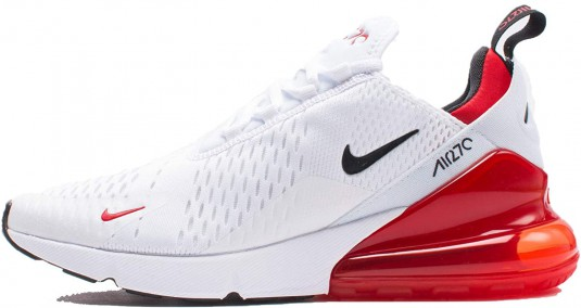 270 nike blanche et rouge collection