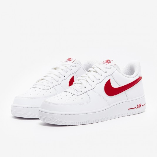 air force 1 '07 3 blanc / rouge magasin