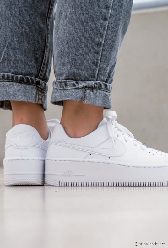 air force one blanche femme plateforme vente