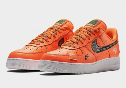 air force one just do it orange femme vente