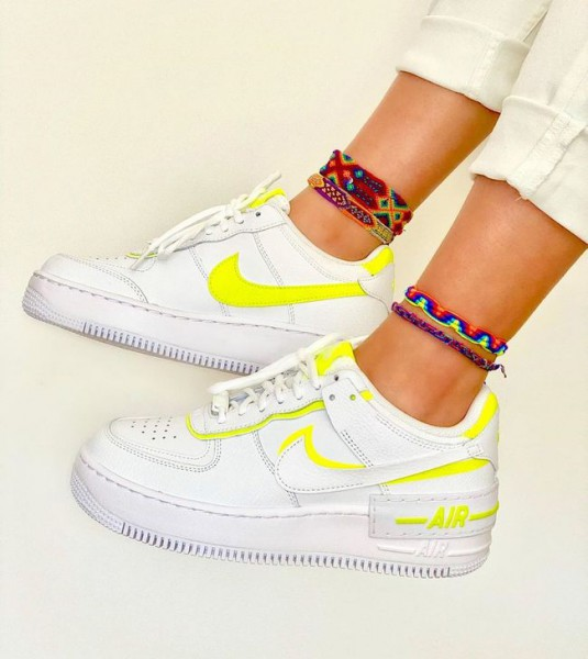 air force one shadow jaune fluo femme online