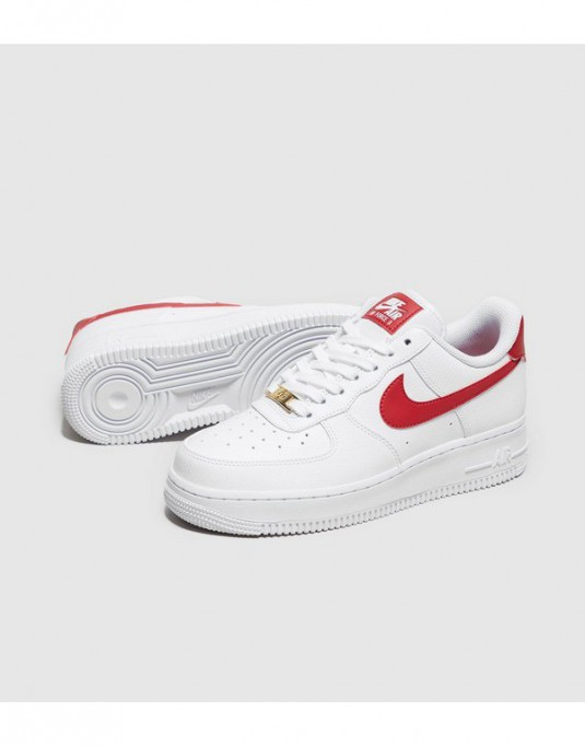 nike air force 1 07 femme blanche et rouge sneaker