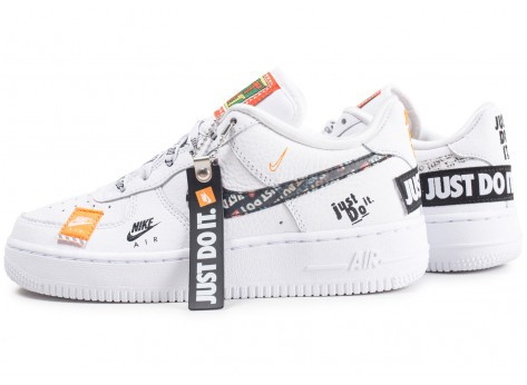 nike air force 1 just do it blanche femme rabais