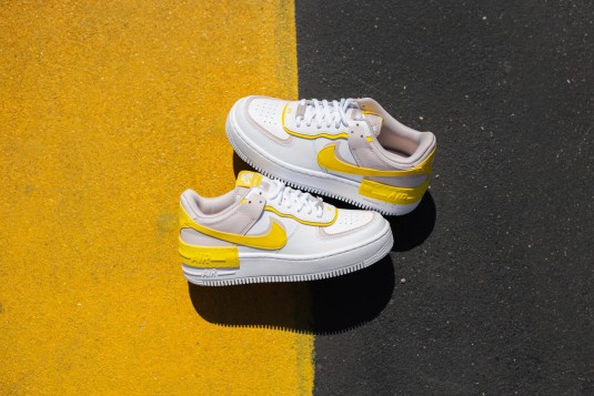 nike air force 1 shadow - femme chaussures jaune boutique