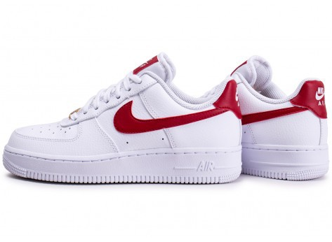 nike air force femme blanche et rouge running